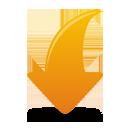 Оранжевая стрелка вниз - бесплатный icon #193815