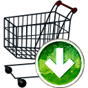 Shopping Cart Down - Kostenloses icon #194165