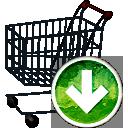 carrinho de compras para baixo - Free icon #194165