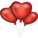Heart Balloons - Free icon #194345