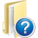 Folder Help - icon gratuit #195345