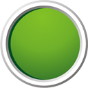 Green Button - icon gratuit #195385