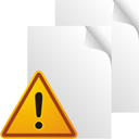 Pages Blank Warning - icon gratuit(e) #195545