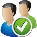 Users Accept - icon gratuit #195715