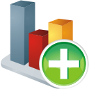 Chart Add - icon gratuit #196125