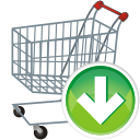 Shopping Cart Down - Kostenloses icon #196135