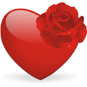 Heart And Rose - Free icon #196435