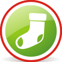 Christmas Stocking Rounded - бесплатный icon #197055