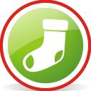 Рождественский чулок округлые - бесплатный icon #197055