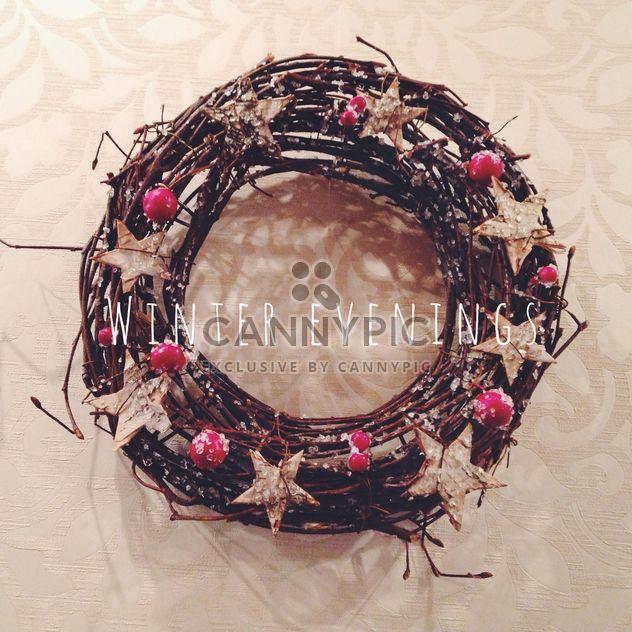 Красивый венок Рождественский - бесплатный image #198425