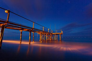 Fishing pier at sunset, Turkey - Free image #198645