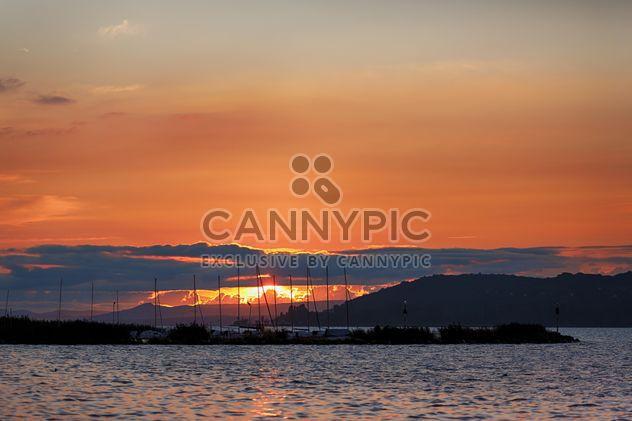 Sunset over Balaton's Lake, Hungary - image gratuit #198685