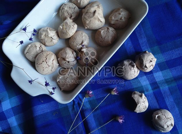 Homemade cookies on blue background - Free image #198875