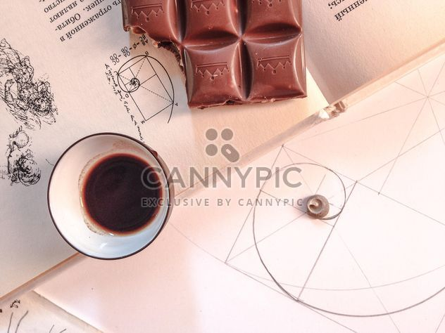 cup of coffee with chocolate - бесплатный image #198915
