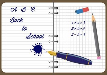 Notebook and Other Writing Materials in Vector - vector #199065 gratis