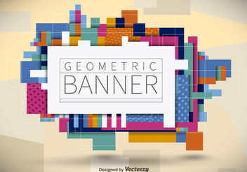 Geometric Banner - Free vector #199225