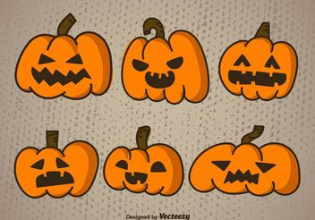 Cartoon halloween pumpkin - Free vector #199245