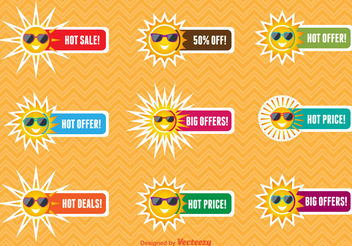 Summer sale labels - vector gratuit #199255