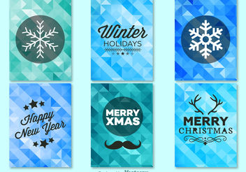 Winter christmas background templates - Free vector #199265