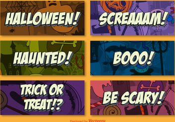 Halloween background cards - Free vector #199355