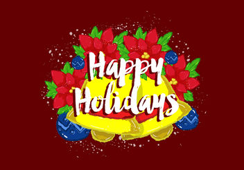 Free Vector Happy Holidays Wallpaper - Free vector #199375