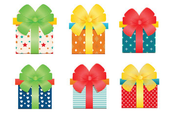 Vector Gift Boxes - Free vector #199405