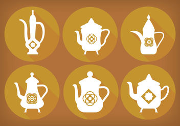 Arabic coffee pot Vectors - vector gratuit #199455