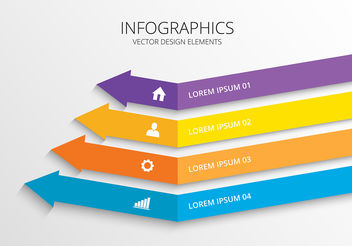 Infographic 3d Design Vector - Free vector #199485