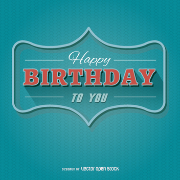 Happy Birthday Modern Postcard - vector gratuit #199525