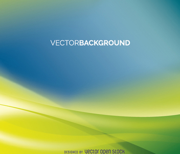 Blue and green abstract background - vector gratuit(e) #199655