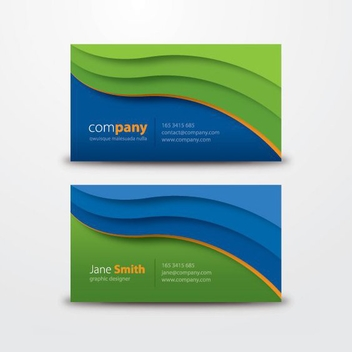 Creative Waves Corporate Business Card - Free vector #199695