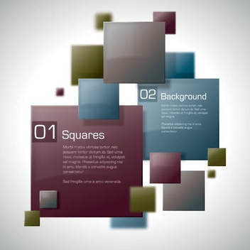 Colorful Squares Business Background - Free vector #199755