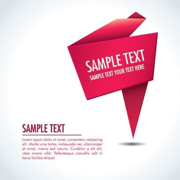 Folded Origami Red Sign Background - vector gratuit #199795