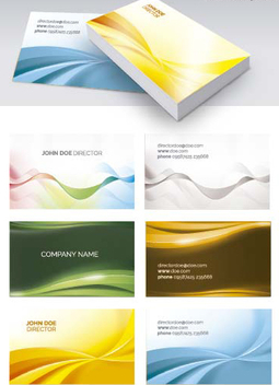 6 Abstract Business card templates - Free vector #199825
