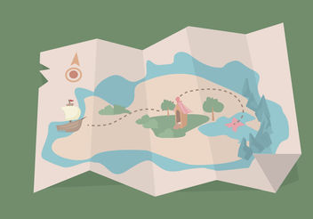 Treasure Map Vector - Free vector #199855