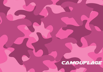 Pink Camo Pattern Vector - Free vector #199865