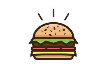 Thick Burger Vector - Free vector #200025