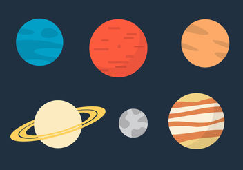 Planet Vectors - Kostenloses vector #200095