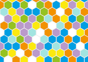 Free Retro Geometric Hexagon Vector - vector gratuit #200115