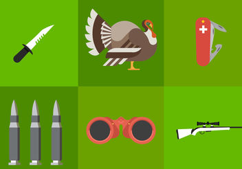 Turkey Hunting - vector gratuit #200125