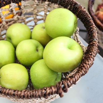 Green apples in basket - Free image #200185