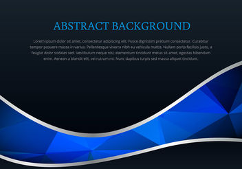 Polygonal style wave background vector - Free vector #200315
