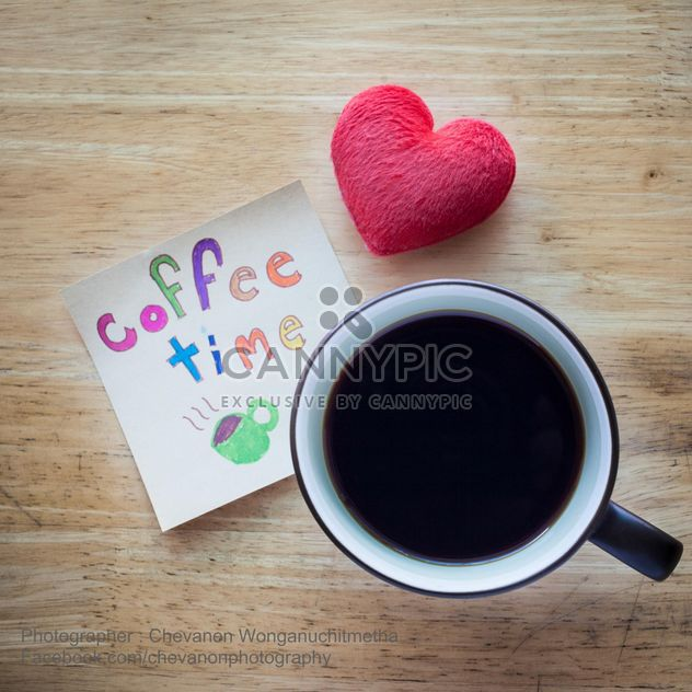 Coffee time and red heart - Free image #200335