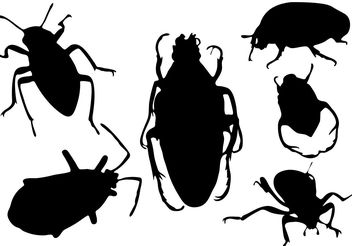 Free Bug Silhouette Vector - Free vector #200395