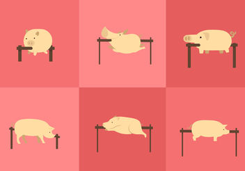 Pig Roast Vectors - Free vector #200445