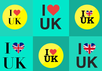 I Love UK - vector #200455 gratis