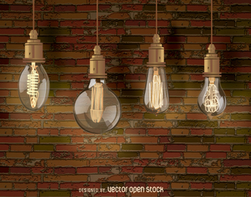 Edison decorative Light bulbs - бесплатный vector #200505