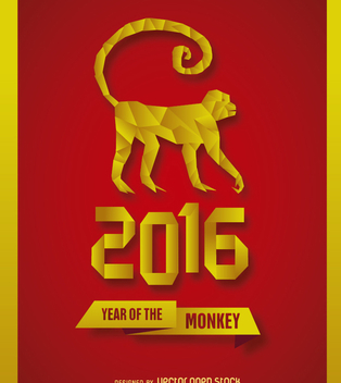 2016 New Year Monkey - vector gratuit #200515