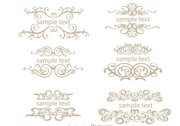 Text Ornamanet Fancy Lines Vectors - Free vector #200595