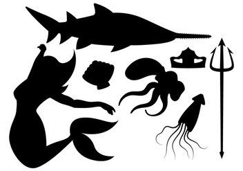Mermaid and Friends - Free vector #200615